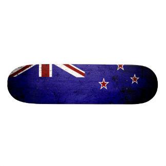 Black Grunge New Zealand Flag 1 Skateboard Deck