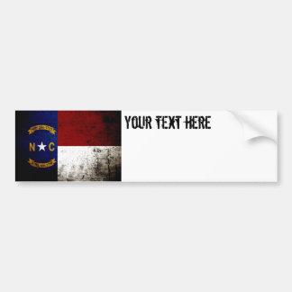 Black Grunge North Carolina  State Flag Bumper Sticker