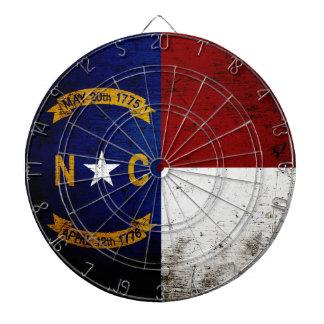 Black Grunge North Carolina  State Flag Dartboard