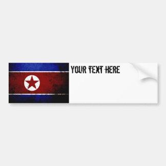 Black Grunge North Korea Flag 1 Bumper Sticker