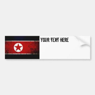 Black Grunge North Korea Flag 2 Bumper Sticker