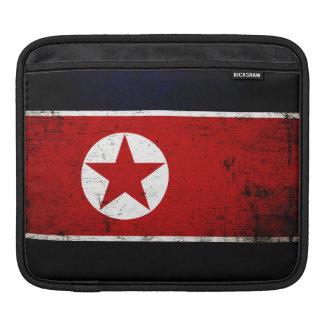 Black Grunge North Korea Flag 2 Sleeve For iPads