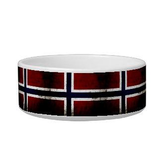 Black Grunge Norway Flag Bowl