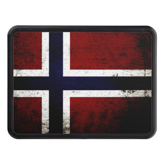 Black Grunge Norway Flag Hitch Cover