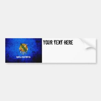 Black Grunge Oklahoma State Flag Bumper Sticker