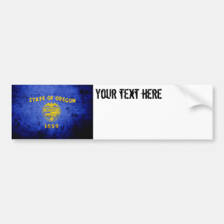 Black Grunge Oregon State Flag Bumper Sticker