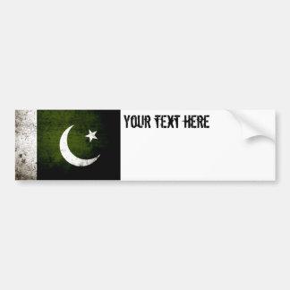 Black Grunge Pakistan Flag Bumper Sticker