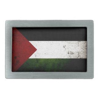 Black Grunge Palestine Flag Belt Buckle
