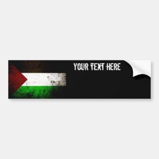 Black Grunge Palestine Flag Bumper Sticker