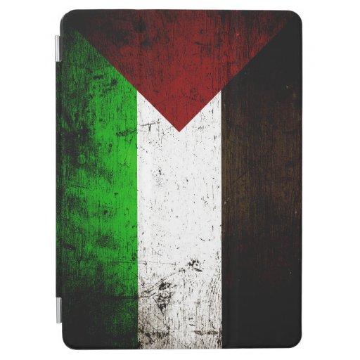 Black Grunge Palestine Flag iPad Air Cover