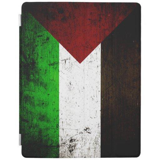 Black Grunge Palestine Flag iPad Cover