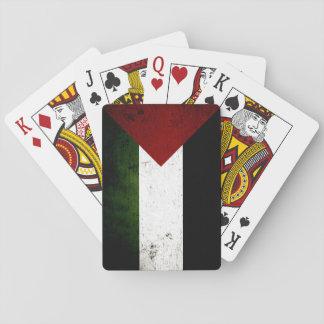 Black Grunge Palestine Flag Playing Cards