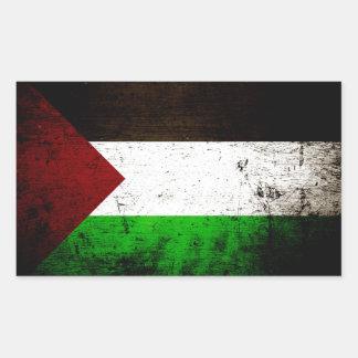 Black Grunge Palestine Flag Rectangular Sticker