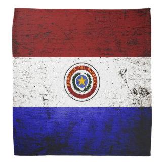Black Grunge Paraguay Flag Bandana
