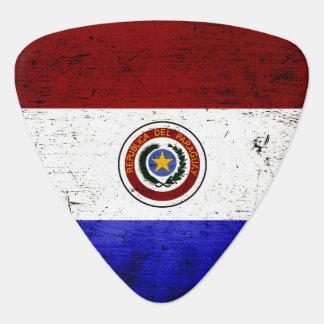 Black Grunge Paraguay Flag Pick