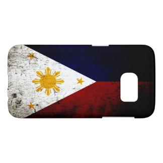 Black Grunge Philippines Flag Samsung Galaxy S7 Case
