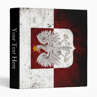 Black Grunge Poland Flag Binder