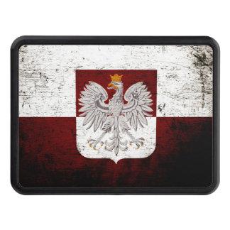 Black Grunge Poland Flag Hitch Cover