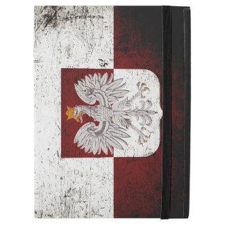 Black Grunge Poland Flag iPad Pro Case