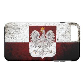 Black Grunge Poland Flag iPhone 7 Plus Case