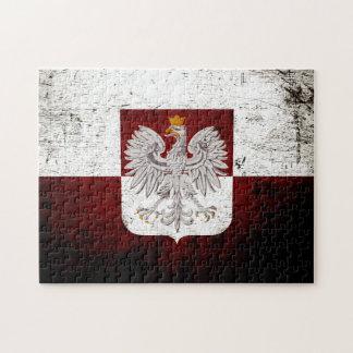 Black Grunge Poland Flag Jigsaw Puzzles