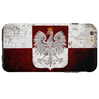 Black Grunge Poland Flag Tough iPhone 6 Plus Case