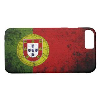 Black Grunge Portugal Flag iPhone 7 Case