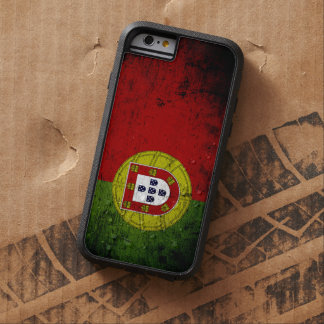 Black Grunge Portugal Flag Tough Xtreme iPhone 6 Case
