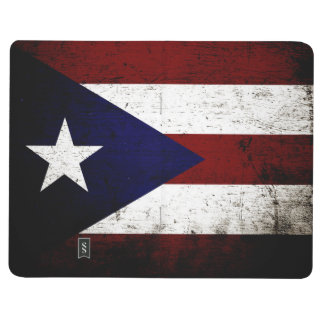 Black Grunge Puerto Rico Flag Journal