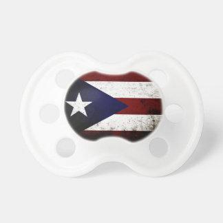 Black Grunge Puerto Rico Flag Pacifier