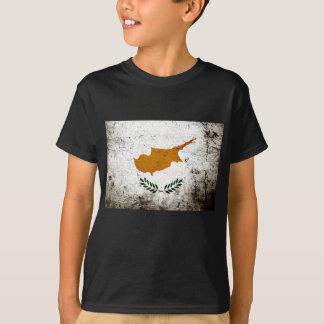 Black Grunge Republic of Cyprus Flag T-Shirt