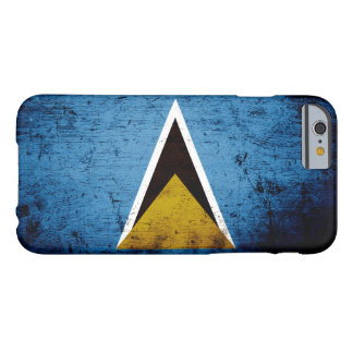 Black Grunge Saint Lucia Flag Barely There iPhone 6 Case