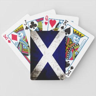 Black Grunge Scotland Flag Bicycle Playing Cards