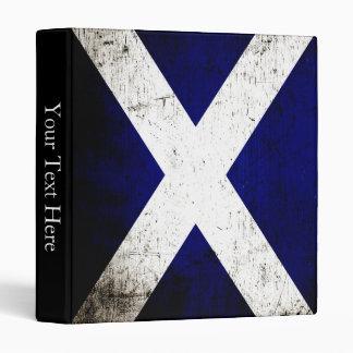 Black Grunge Scotland Flag Binder