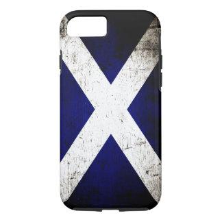Black Grunge Scotland Flag iPhone 8/7 Case