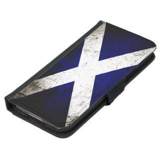 Black Grunge Scotland Flag Wallet Phone Case For Samsung Galaxy S5