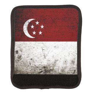 Black Grunge Singapore Flag Handle Wrap