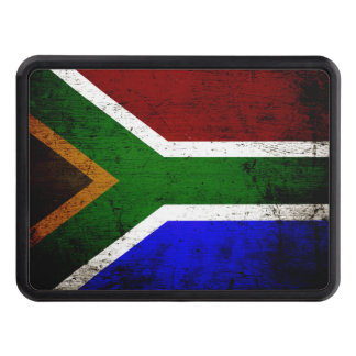 Black Grunge South Africa Flag Hitch Cover