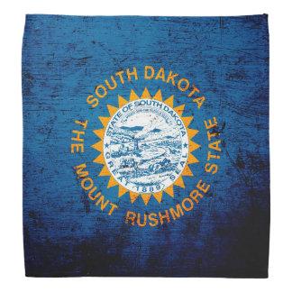 Black Grunge South Dakota State Flag Bandana