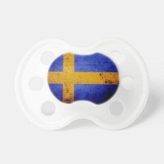 Black Grunge Sweden Flag Pacifier