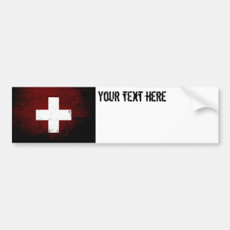 Black Grunge Switzerland Flag Bumper Sticker