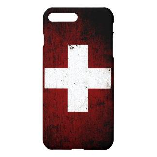 Black Grunge Switzerland Flag iPhone 7 Plus Case