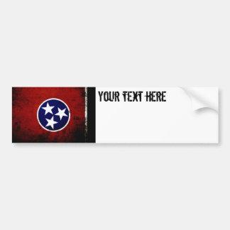 Black Grunge Tennessee State Flag Bumper Sticker
