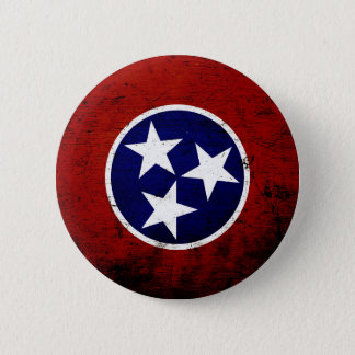 Black Grunge Tennessee State Flag Button