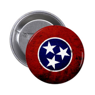 Black Grunge Tennessee State Flag Buttons