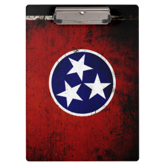 Black Grunge Tennessee State Flag Clipboard