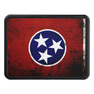 Black Grunge Tennessee State Flag Hitch Cover