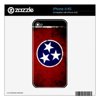 Black Grunge Tennessee State Flag iPhone 4S Decal