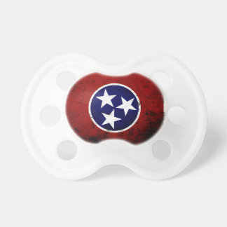 Black Grunge Tennessee State Flag Pacifier
