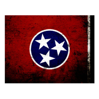 Black Grunge Tennessee State Flag Post Cards